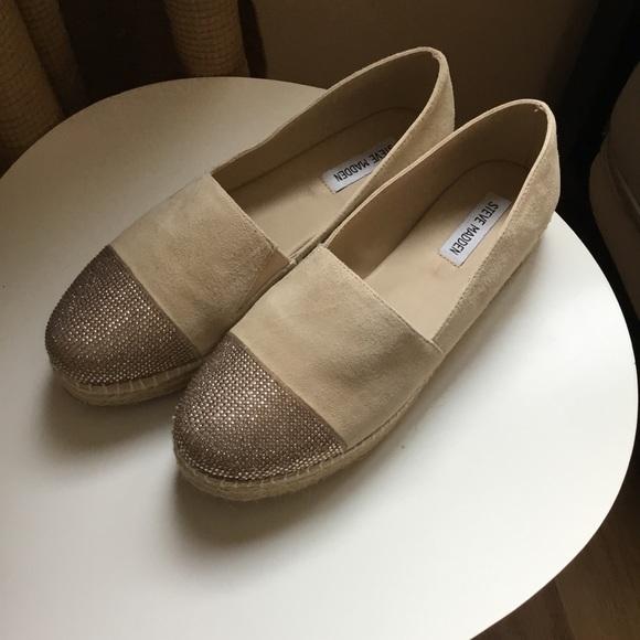 simpático Enjuiciar Relativo  Steve Madden Shoes   Nwot 9 Pulse Rhinestone Espadrilles   Poshmark